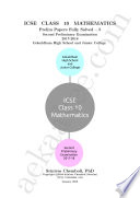 ICSE Class 10 Mathematics Prelim Papers Fully Solved - 5