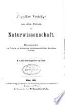 Schriften des Vereines zur Verbreitung Naturwissenschäftlicher Kenntnisse in Wien