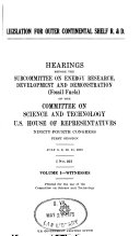Legislation for Outer Continental Shelf R    D   Witnesses  July 8  9  10  11  1975
