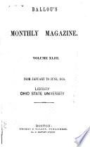 Ballou s Monthly Magazine Book