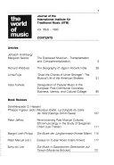 Monde de la Musique