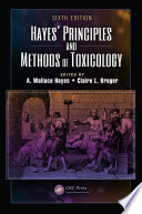 Hayes Principles And Methods Of Toxicology Book PDF