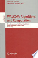 WALCOM  Algorithms and Computation