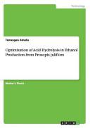 Optimization of Acid Hydrolysis in Ethanol Production from Prosopis Juliflora