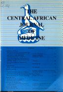 Central African Journal of Medicine Book