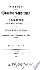 Geschichte der Staatsveränderung in Frankreich unter König Ludwig XVI