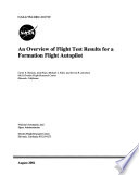 An Overview of Flight Test Results for a Formation Flight Autopilot