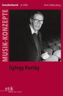 Pdf MUSIK-KONZEPTE Sonderband - György Kurtág Telecharger