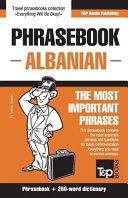 English Albanian Phrasebook and 250 Word Mini Dictionary