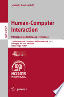 Human-Computer Interaction: Interaction Modalities and Techniques