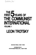 The First 5 Years of the Communist International