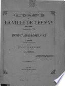 Archives communales de la ville de Cernay (Haut-Rhin) antérieures à 1790