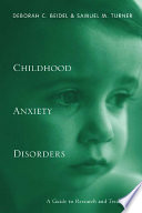 Child Anxiety Disorders Book PDF