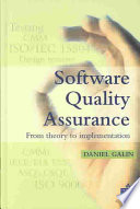 Software Quality Assurance Book