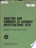 Analysis And Summary Of Accident Investigations Book PDF