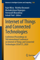 Internet Of Things And Connected Technologies