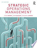 Strategic Operations Management Book