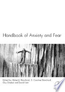 Handbook of Anxiety and Fear Book