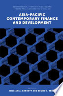 Asia Pacific Contemporary Finance And Development