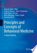 Principles and Concepts of Behavioral Medicine