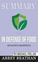 Summary  in Defense of Food