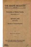 Sylvester Judd (1813-1853): Novelist of Transcendentalism