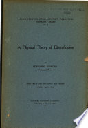 A Physical Theory Of Electrification Book PDF