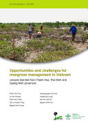 Opportunities and challenges for mangrove management in Vietnam