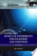 Design of Experiments for Engineers and Scientists Book