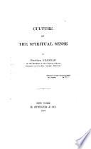 Culture of the Spiritual Sense Book