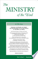 The Ministry Of The Word Vol 22 No 9