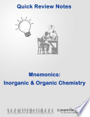 Quick Review  Mnemonics for Inorganic and Organic Chemistry