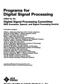 Programs for Digital Signal Processing