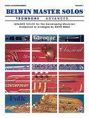 Belwin Master Solos  Trombone   Vol 1  Advanced Piano Acc