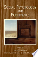 Social Psychology and Economics Book