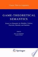 Game Theoretical Semantics Book PDF