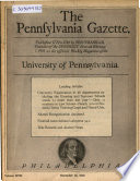 The Pennsylvania Gazette ...