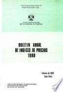 Boletín anual de índices de precios