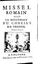 Missel romain, selon le règlement du Concile de Trente