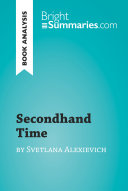 Secondhand Time by Svetlana Alexievich  Book Analysis  Book PDF