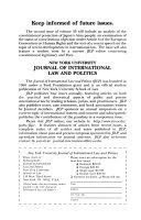New York University Journal of International Law   Politics