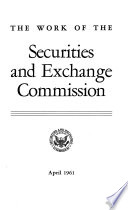 The Work of the Securities and Exchange Commission Book