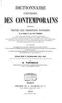 Dictionnaire universel des contemporains contenant toutes les personnes notables de la France et des pays étrangers