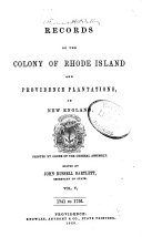 Records of the Colony of Rhode Island and Providence Plantations  in New England  1741 1756