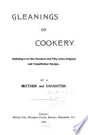 Gleanings of Cookery