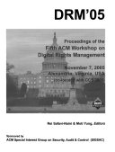 Proceedings of the     ACM Workshop on Digital Rights Management Book