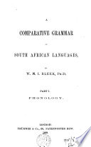 A Comparative Grammar of South African Languages
