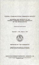 Federal Communications Commission Reports Book