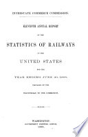 Annual Report on the Statistics of Railways in the United States