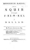 Pdf Monsieur Ragoo; or, a Squib for the grand f-re-w-rks. A ballad